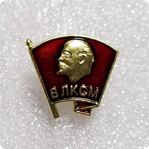 WERTY Insignias de Lenin de la Unin Sovitica, Medalla de la Liga Juvenil, Pin de Solapa Militar del Partido Comunista Revolucionario Rojo