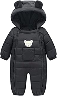 Infant Baby Toddler Boys Girls Winter Snowsuit Outerwear Clothes Thick Cotton Hooded Warm Snow Wear 6-24 Months