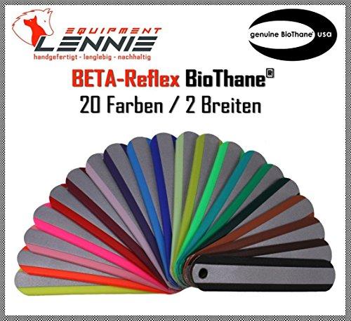 BioThane® Meterware, Beta Standard Reflex, 19-25 mm breit, ca. 2,5 mm dick, viele Farben, 19mm, Blau