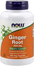 NOW Supplements, Ginger Root (Zingiber officinale)550 mg, 100 Veg Capsules