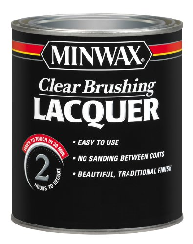 Minwax Brushing Lacquer 155100000, Quart, Clear