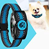 2020 Upgraded Dog Bark Collar for Small Medium Large Dogs No Shock Bark Control Collar Rechargeable with Beep Vibration Anti-Bark Training Collar (5 Adjustable Sensitivity Control 2 Vibration Mode)