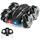 Remote Control Car for Boys/Girls, Kids Toys RC Stunt Car as Christmas Birthday Gifts for Age 6 7 8 9 10 13, Rechargeable High Speed 4WD 2.4Ghz Drift Car with 360°Rotating and LED Headlight