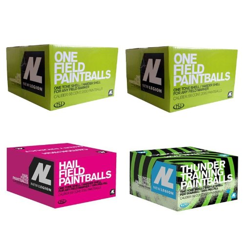 New Legion Paintball Paket - 1x Hail, 1x Thunder, 2x One