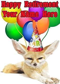Fennec Fox nnc22 Happy Pensionent Card personliga kort a5