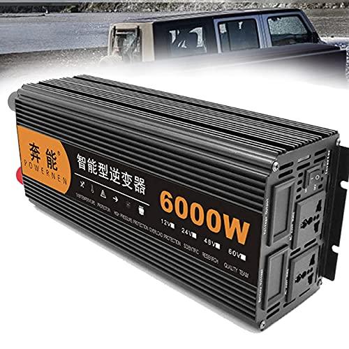 CHEIRS Inverter di Potenza a Onda sinusoidale Pura da 6000 W Convertitore CC 12V/24V a CA 230V/240V con Prese CA e Porte USB, generatore di Emergenza Esterno,24V