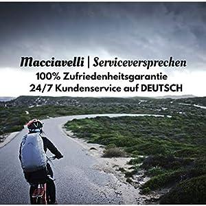 MACCIAVELLI - Guantes de Ciclismo | Guantes MTB de Medio Dedo | Adecuado para Ciclismo de Carretera y de Montaña - Guantes para Hombres y Mujeres