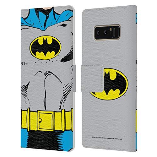 Head Case Designs Oficial Batman DC Comics Disfraz clsico Logotipos Carcasa de Cuero Tipo Libro Compatible con Samsung Galaxy Note8 / Note 8