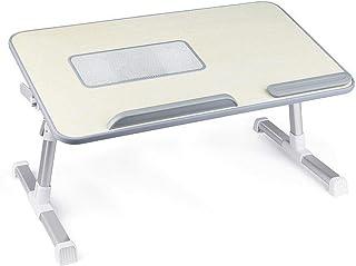 مكتب ستاند للاب توب، قابل للتعديل على شكل طاولة محمولة بارجل قابلة للطي ويستخدم كذلك للفطور وكتابة الوظائف، مزود بمروجة لل...