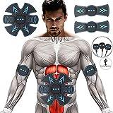 WZCXYX Stimulateur à la Maison portatif de Muscle, entraîneur de Muscle Abdominal de SME, équipement de Forme Physique de Jambe/Bras, Les Hommes et Les Femmes Peuvent Employer/Remplissage d'USB Blue