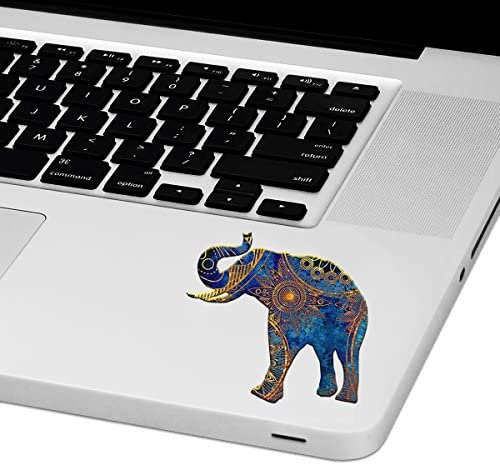 Mandala Elephant Laptop Trackpad Sticker 3 Tall x 3 Wide product image