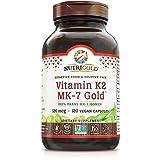 Nutrigold Vitamin K2 MK7 Supplement, 120 Capsules, Bone...