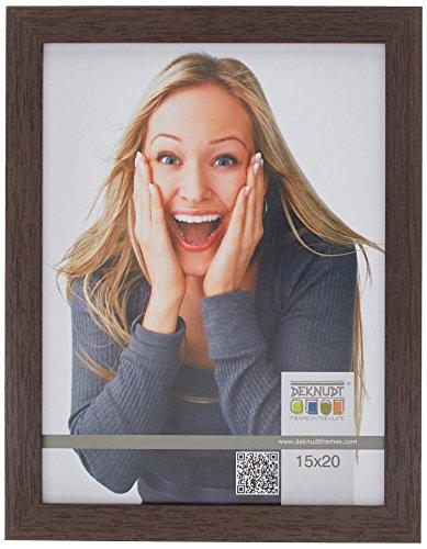 Deknudt Frames S44CH4-15.0X20.0 Bilderrahmen, Holz/MDF, Schlichter Stil, schmal, 23,2 x 18,2 x 1,33 cm, Dunkelbraun