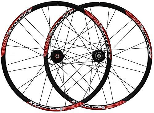 26' MTB Sistema de Rueda de la Rueda de la Bicicleta de Doble Pared de Llantas de Aluminio del Freno de Disco 7-11 Velocidad Palin Teniendo 24H del Eje del Lanzamiento rápido de 4 Colores
