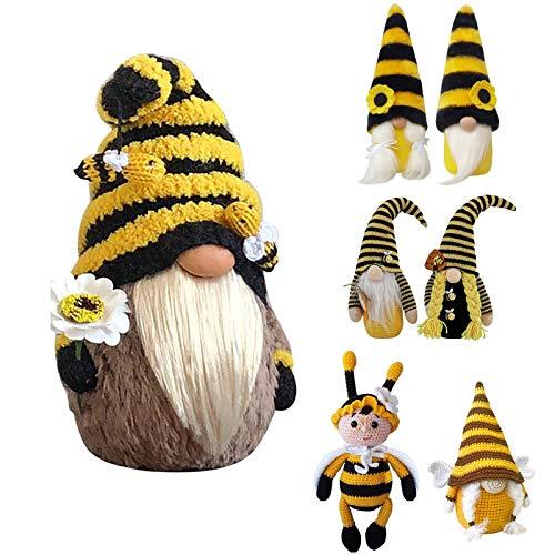 Bumble Bee Striped Zwerg Puppe Dekoration Schöne GNOME Lange Beine Wichtel Spielzeug Zwerge Wohndekoration Toy Plush Faceless Gnomes Ornaments Bee Elfs Home Handmade PlushDwarf Elves Dressed