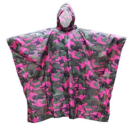 AXIANQI Poncho Imperméable Camouflage Auvent De Sol Multifonctionnel Poncho Lâche À Capuchon Adapté Aux Activités De Plein Air A (Size : B)