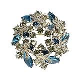 hkwshop Pin Broche Escudo de Cachemir Pin decoración Creativa Salvaje de la Bufanda Bufandas Clip Hebilla de Doble Uso de la Broche de Accesorios suéter Solapa Broche