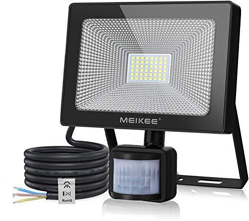 MEIKEE 50W LED Strahler mit Bewegungsmelder Superhell 5000LM LED Fluter IP66 Wasserdicht Außenstrahler 6500K Tageslichtweiß Scheinwerfer Außenbeleuchtung für Garage, Garten, Hof