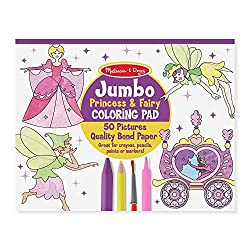 a great book for any girl who loves princesses just like the other melissa doug coloring big this one is jumbo sized has adorable and not so complicated - Melissa And Doug Coloring Book