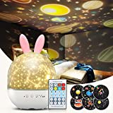 Night Light Projector for Kids, Baby Bunny Night Lamp with...