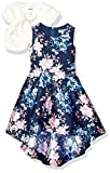 Speechless Girls' Party Dress with Jacket, Navy/Pink, 4