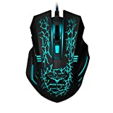 havit Raton Gaming LED Gaming Mouse Alámbrico Ratón para Juegos 3200 dpi...