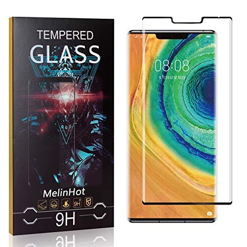MelinHot Verre Trempé pour Huawei Mate 30 Pro, 3D Touch Ultra Résistant Protection en Verre Trempé Écran pour Huawei Mate 30 Pro, sans Traces de Doigts, 4 Pièces