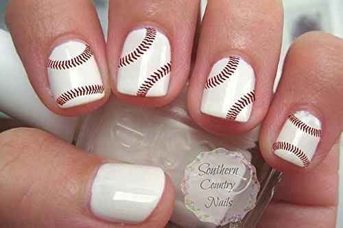 46 Sports Baseball Stitches Nail Art Designs Decals