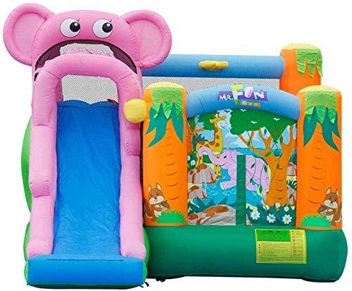 L.HPT Castillo Inflable para niños, Castillo y tobogán inflables de Interior de Juguete Grande para el hogar, tobogán Inflable de Interior para niños Castillo Rosa 360 * 300 * 240 cm Uptodate
