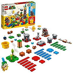 Customize LEGO Super Mario Starter Course and Expansion Sets in limitless ways, with this versatile Master Your Adventure Maker Set Features 3 Action Bricks: a Customization Machine to select rewards offered by the Time Block and 2 Item Blocks, plus ...