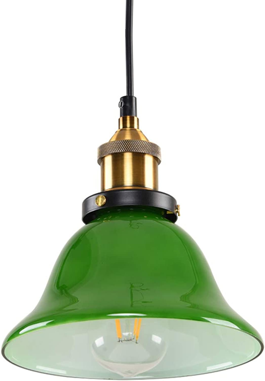 Senior Glas Kronleuchter Deckenleuchten Dinner Hall Light Zum Haus Dekoration, Einfach E27 Wohnzimmerlichter, Hngende Lichter, Schlafzimmerbeleuchtung, Coffee Bar Pendelleuchte - Smaragd,20Cm
