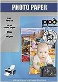 PPD A4 x 50 Hojas de Papel Fotográfico Brillante - Para Impresora de Inyección de Tinta - Gramaje de 180 g/m2 y Secado Instantáneo - PPD-24-50