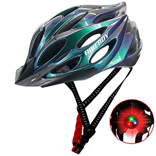 Learn More About xixistaryy Adult Cycling Bike Helmet Lightweight Road Bike Bicycle Helmets Adjustable Size with LED Safety Light for Women & Men