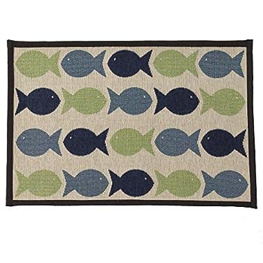 Pet Rageous Kool Fishies Tapestry Mat Feeder, 13 x 19 /Small