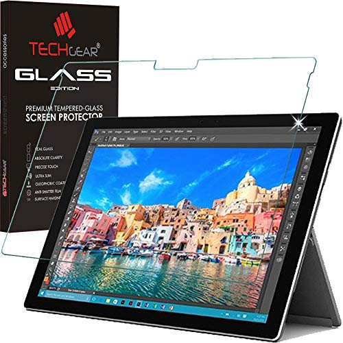 TECHGEAR Surface Pro 2017, Surface Pro 4 Matt Panzerglas - Matte Blendschutz Panzerglas Auflage, Original-gehärtetes Glas-Bildschirmschutzfolie kompatibel mit Microsoft Surface Pro 2017, Surface Pro 4