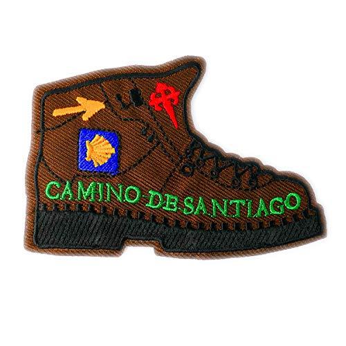 Camino Cats Jakobsweg Aufnäher Patch Aufbügler Wanderschuh