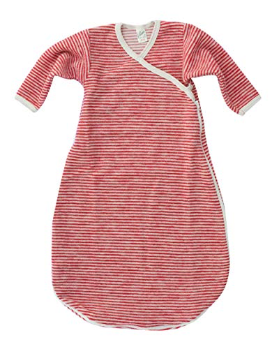 Lilano, Baby Wickelsack Flausch, 100% Wolle (kbT) (50-56, Rot/Natur)
