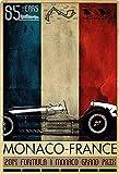 Placa metálica de 20 x 30 cm, Monte Carlo Grand Prix 2014