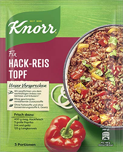 Knorr Fix Hack-Reis Topf 3 Portionen (23 x 49 g)