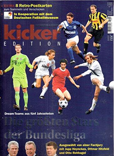 Kicker Edition: Die größten Stars der Bundesliga 1963-2012/13: Die Dream-Teams der 5 Jahrzehnte. Mit Beilage Retro-Postkarten [Broschiert] [Jan 01, 2015] Kicker-Redaktion