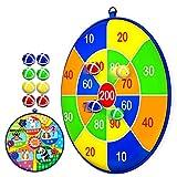 Lbsel Juego para niños Doble Cara Dart Board con 8 Bolas Juegos de Mesa para niños Toy-Safe Dart Game-Regalo para niños elección de Juego Interior al Aire libre-13.2 Inches (33.5cm)