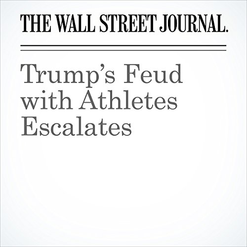 Trump's Feud with Athletes Escalates audiobook cover art