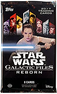 Topps Collectible Trading Cards - Star Wars 2017 Galactic Files Reborn - HOBBY PACK (8 cards)