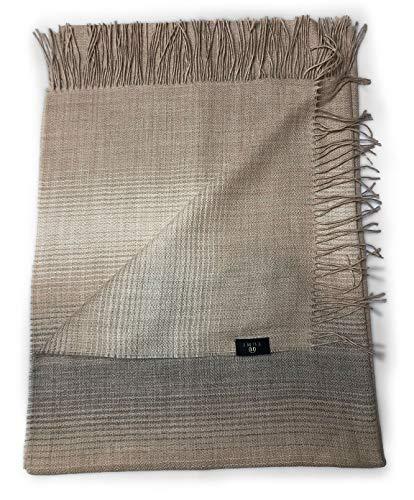 Peruvian Chaska Kunturwari – 100 % ecológico para bebé – 200 x 70 cm – 190 g – Fabricado en Perú Marrón Pattern Talla única