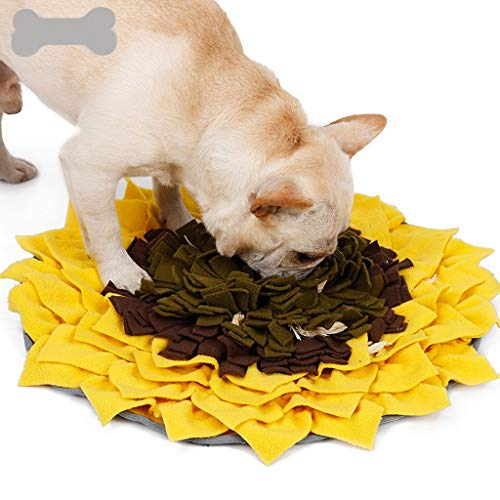 WWXX Perro Snuffle Mat, Resuello, Alimentación Mat, Pet Puzzle Juguetes Duraderos Interactivos Juguetes del Perro, Perro Tratar Dispensador De Alivio De Estrés Cubierta Al Aire Libre (Color : Yellow)