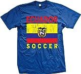 NOFO Clothing Co Ecuador Soccer, Ecuadorian Flag, Futbol Men's T-Shirt, XL Royal