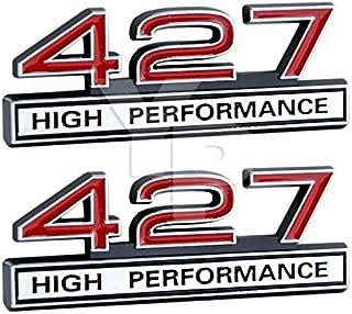 427 7.0 Liter Engine High Performance Emblem in Chrome & Red - 4