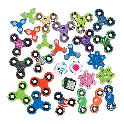 Fun Express Bulk Fidget Toy Assortment - 100 Pieces - Games for Kids
