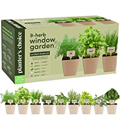 COMPLETE 40 PIECE KIT: Everything you need to bring the joy of planting savory herbs into your or a loved one's life. It's easy – we take the guesswork out of planting herbs from seeds, guiding you every step of the way. Plant on! Pot it: 9 REUSABLE ...