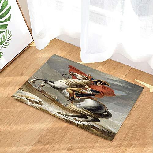 Artistiek portret van Napoleon beroemd schilderij Franse koning Kinderbadkamer tapijt toiletdeur mat woonkamer 50X80CM badkameraccessoires